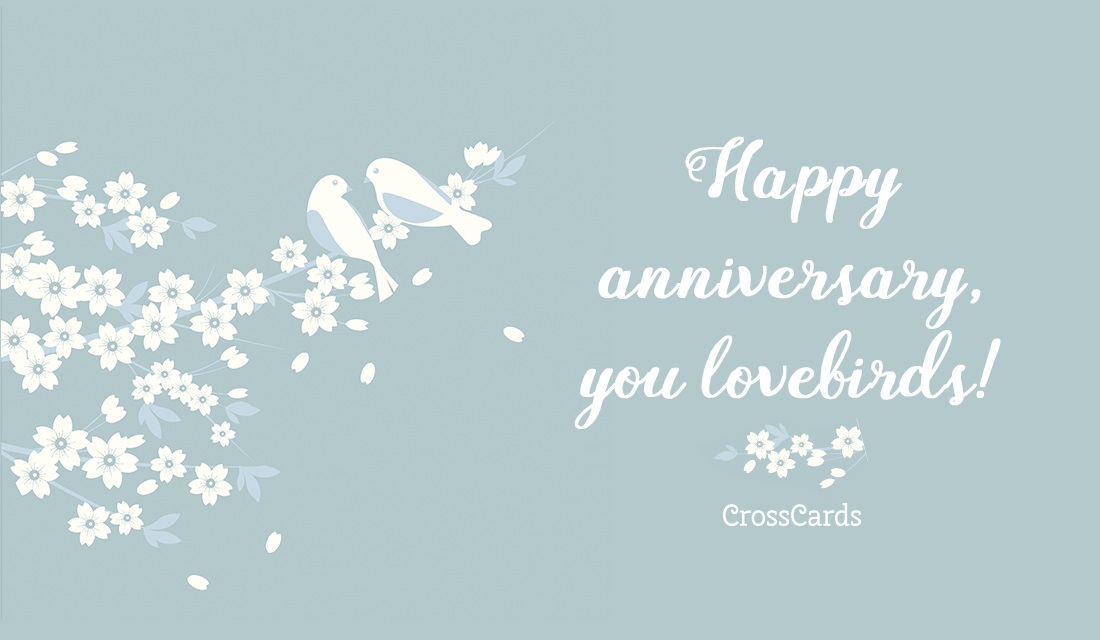 Happy Anniversary, Lovebirds! ecard, online card
