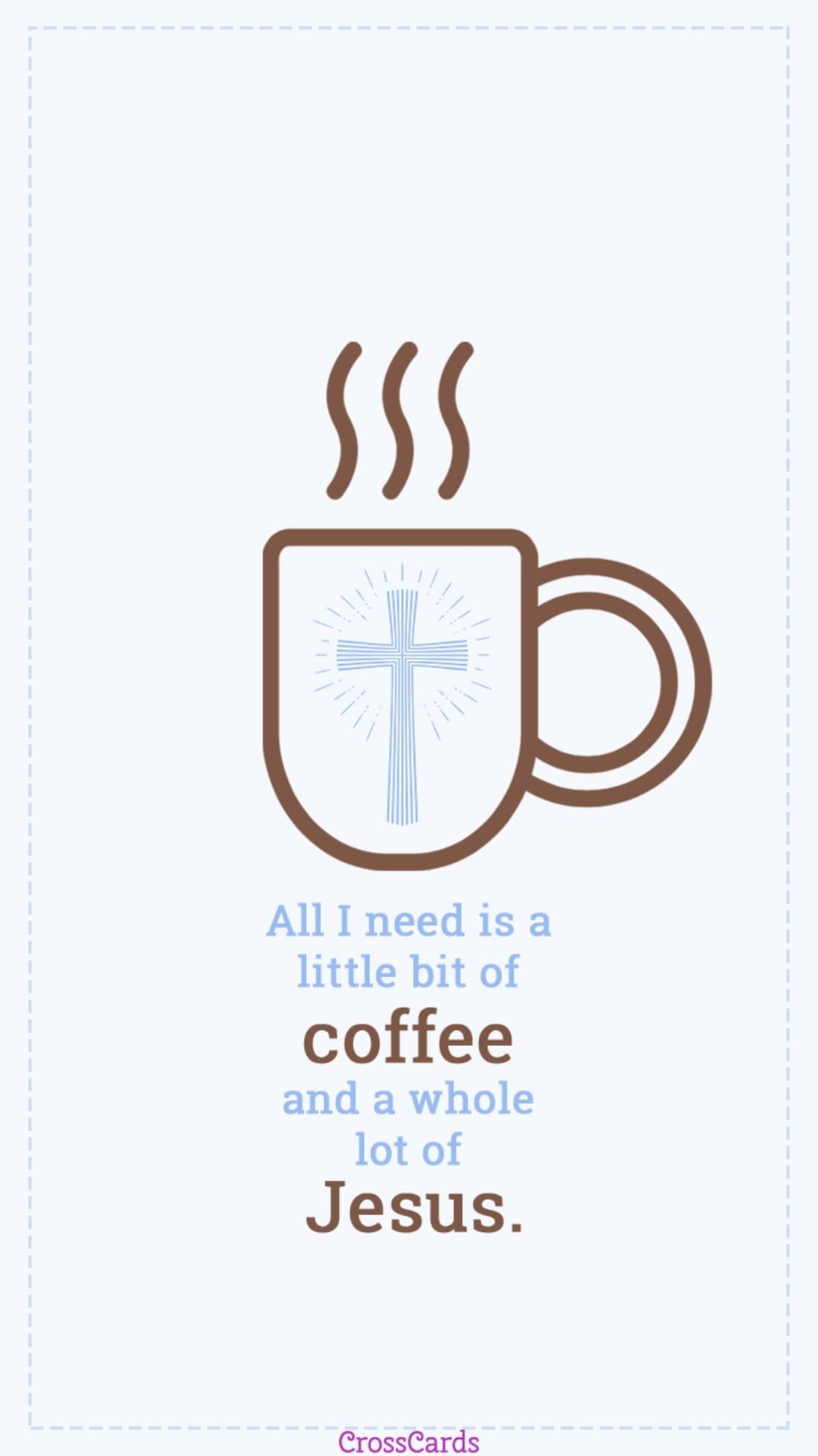 Coffee and Jesus mobile phone wallpaper