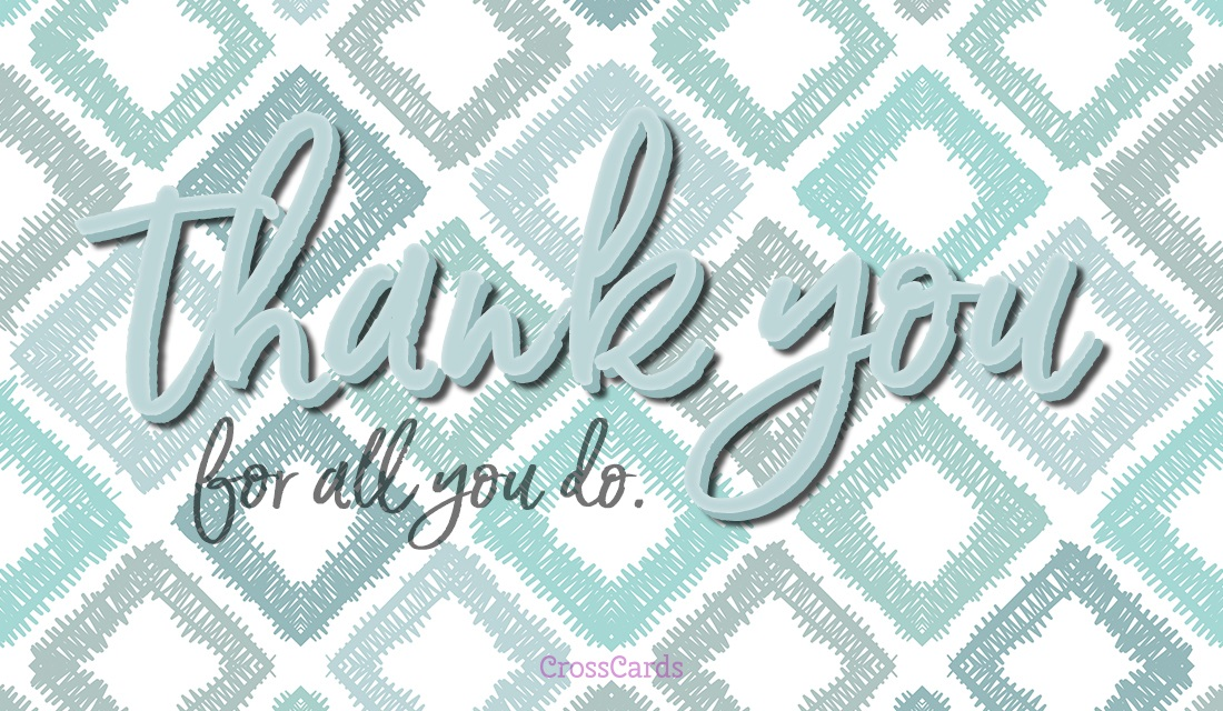 Thank You For All You Do ecard, online card