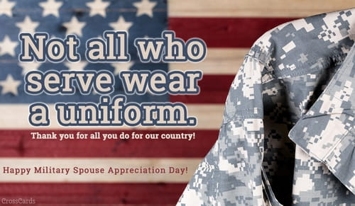 Happy Military Spouse Appreciation Day! (5/12) ecard, online card