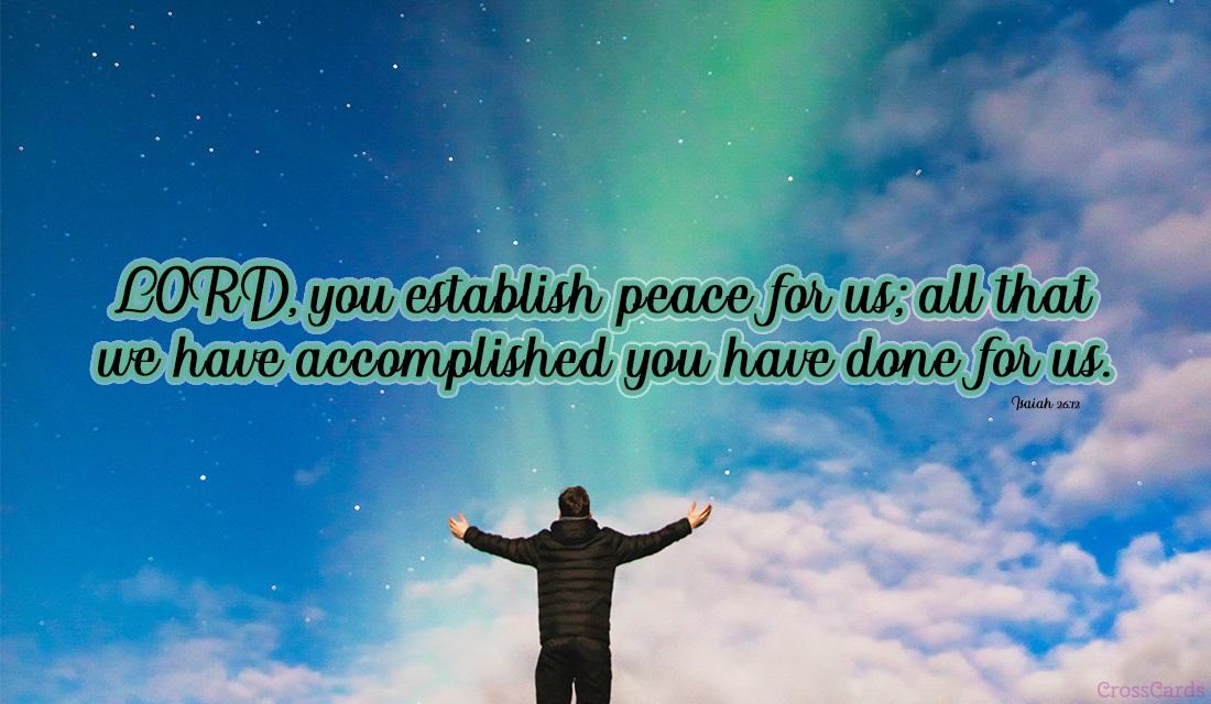 Isaiah 26:12 ecard, online card