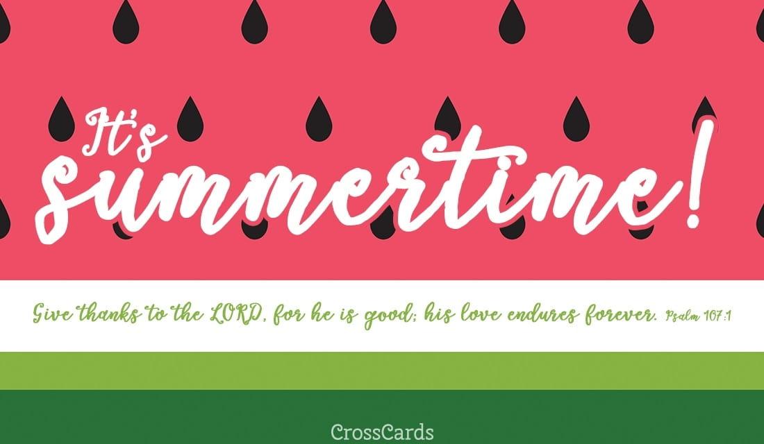 It's Summertime! ecard, online card