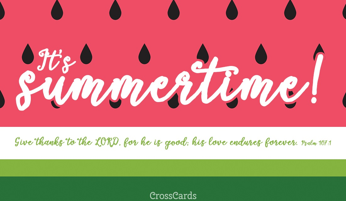 It's Summertime! ecard, online card