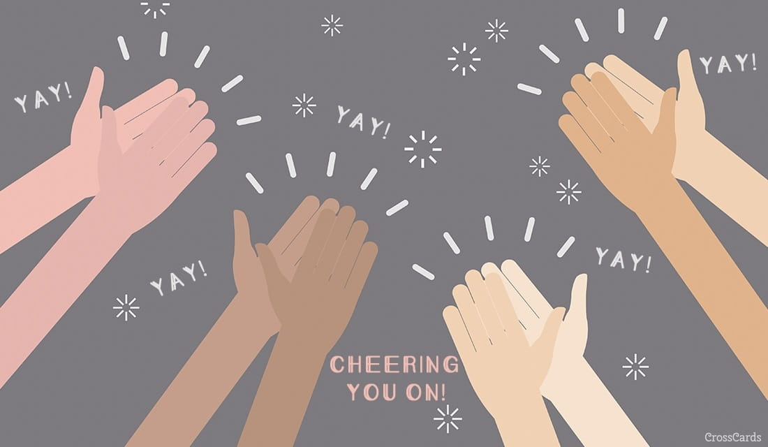Cheering You On! ecard, online card