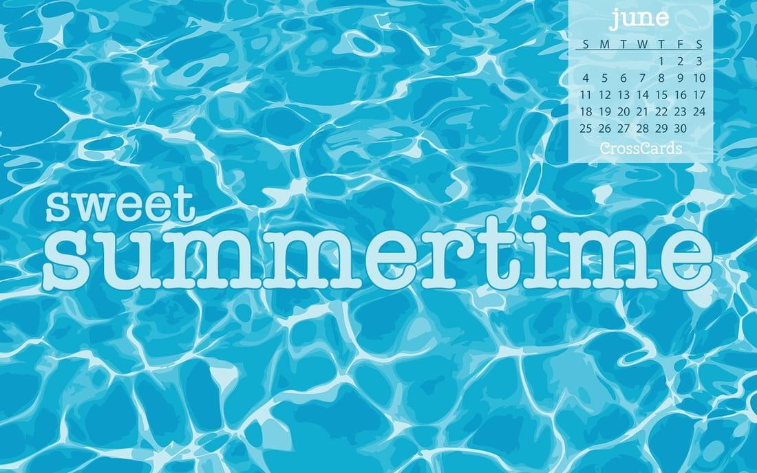 June 2017 - Sweet Summertime mobile phone wallpaper