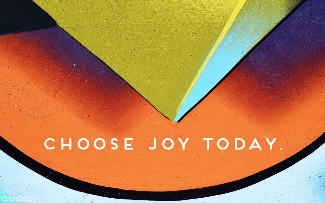 Choose Joy Today ecard, online card