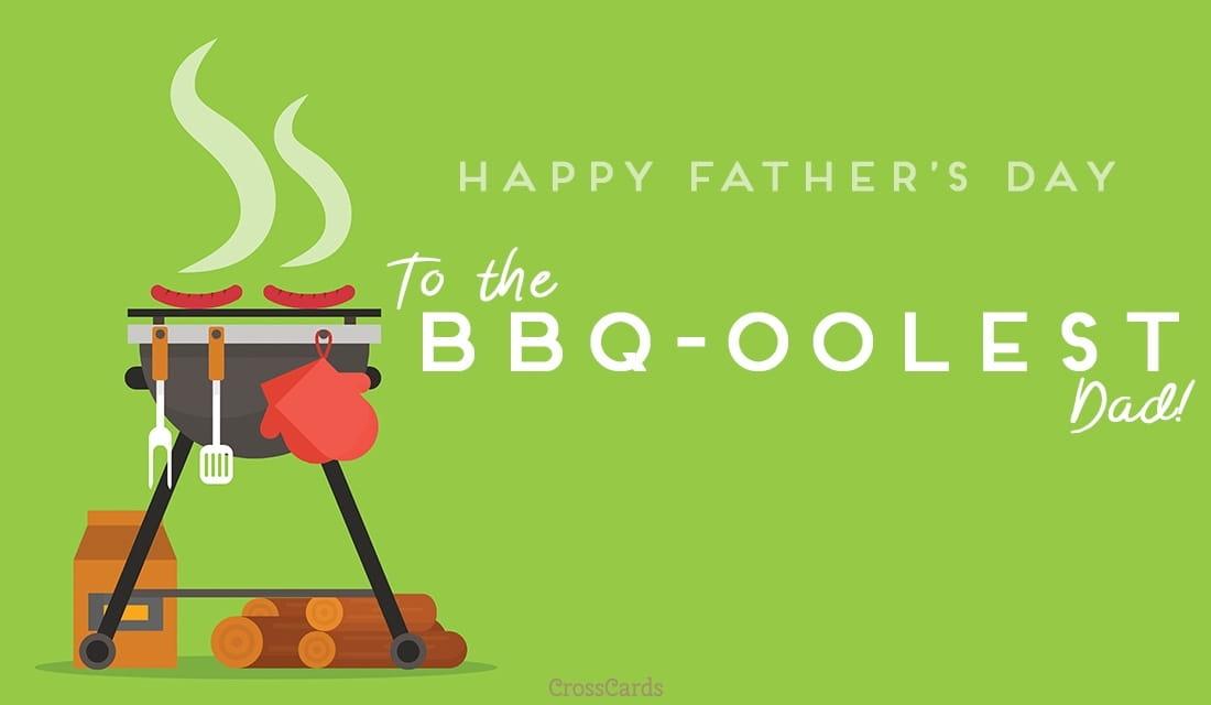 BBQ-oolest Dad ecard, online card