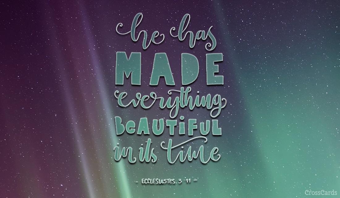 Ecclesiastes 3:11 ecard, online card