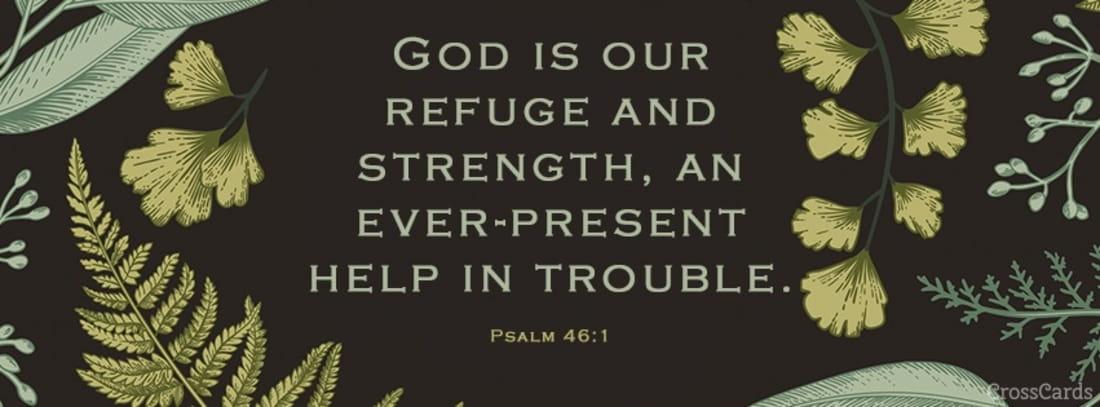 Psalm 46:1 mobile phone wallpaper