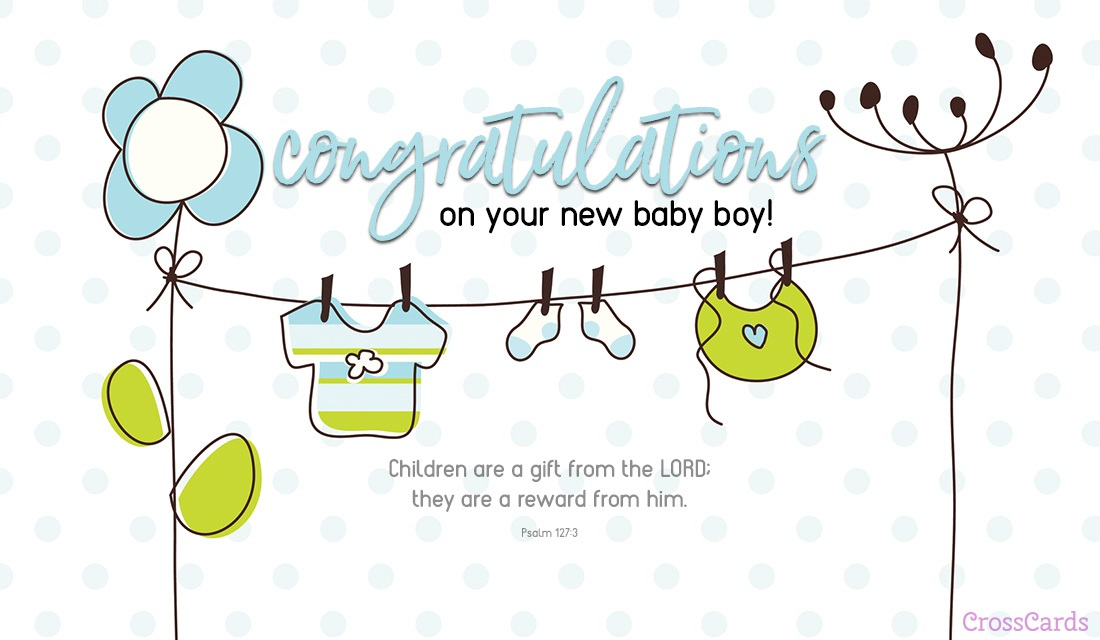 New Baby Boy ecard, online card