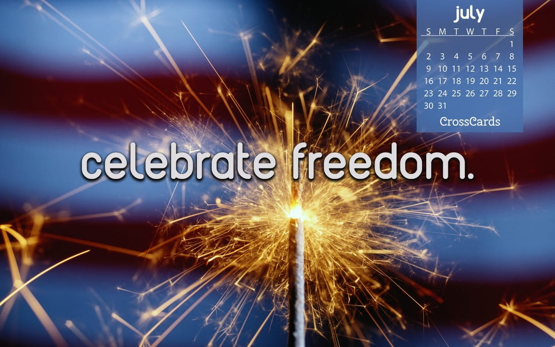 July 2017 - Celebrate Freedom mobile phone wallpaper