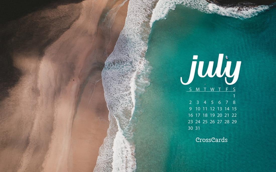 July 2017 - Beach mobile phone wallpaper