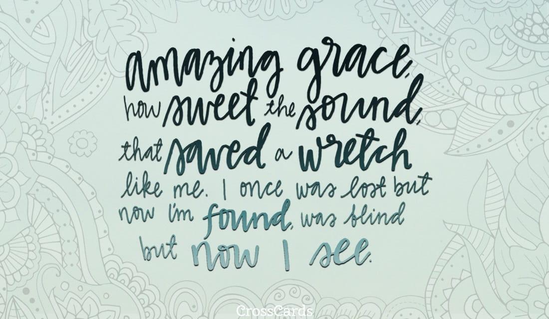 Amazing Grace ecard, online card