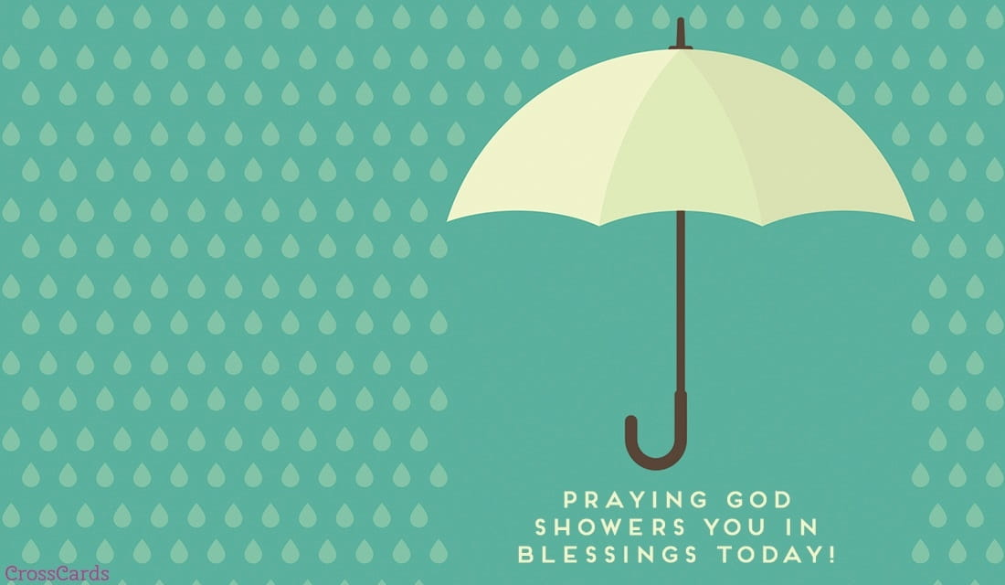 Showered in Blessings ecard, online card