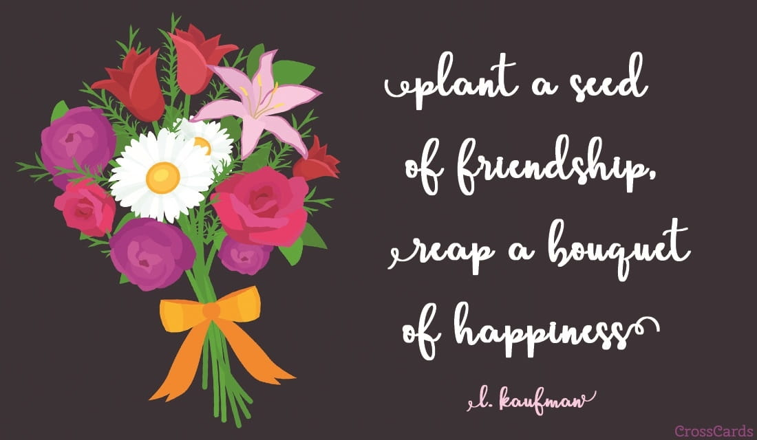 Free Friendship Bouquet ECard