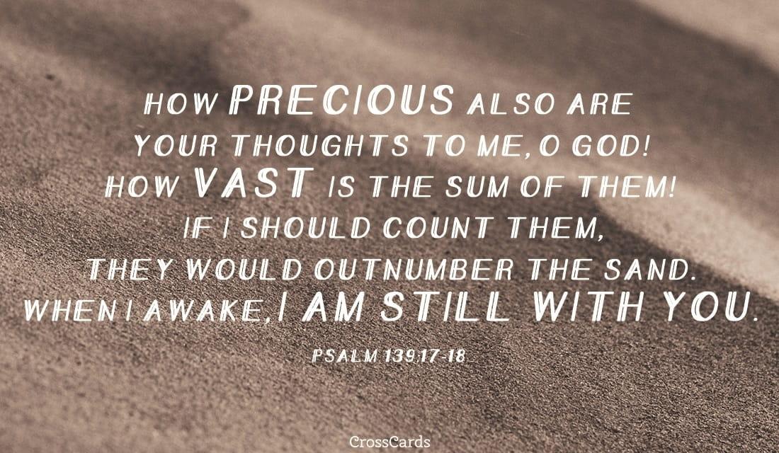 Psalm 139:17-18 ecard, online card