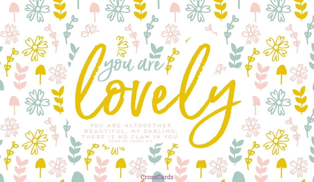 You are Lovely ecard, online card