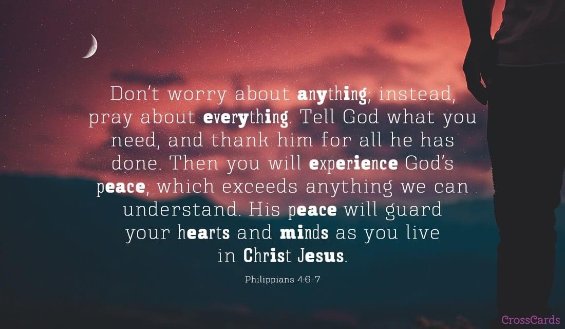 Philippians 4:6-7 ecard, online card