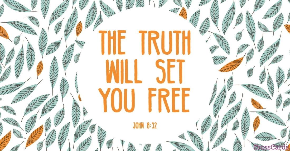 John 8:32 ecard, online card