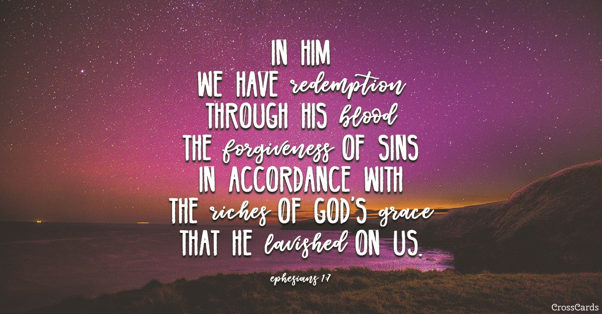 Ephesians 1:7 ecard, online card