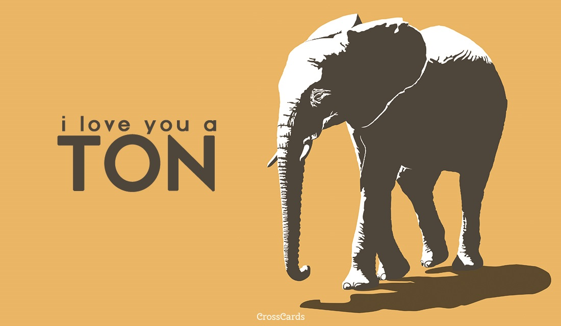 Happy World Elephant Day! (8/12) ecard, online card