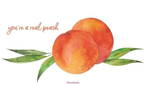Happy Eat a Peach Day! (8/22) ecard, online card