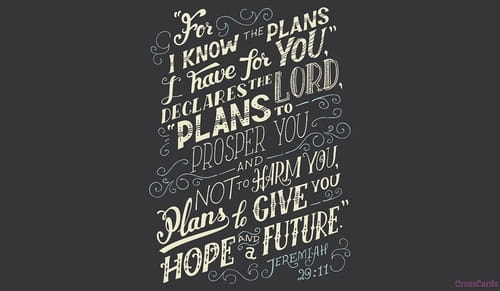 Jeremiah 29:11 - For I know the plans I have for you