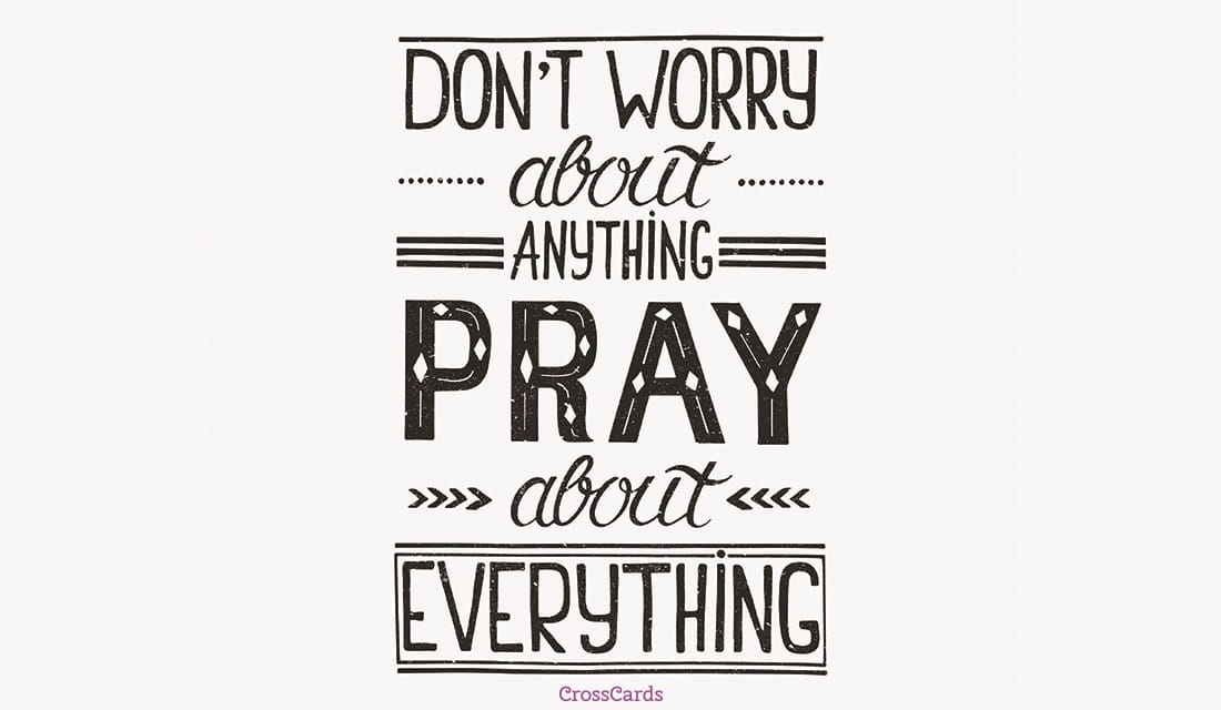 Pray about Everything ecard, online card