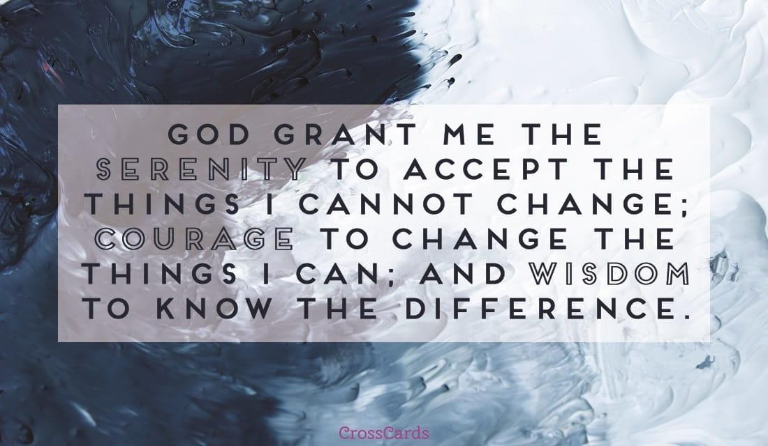 Serenity Prayer ecard, online card