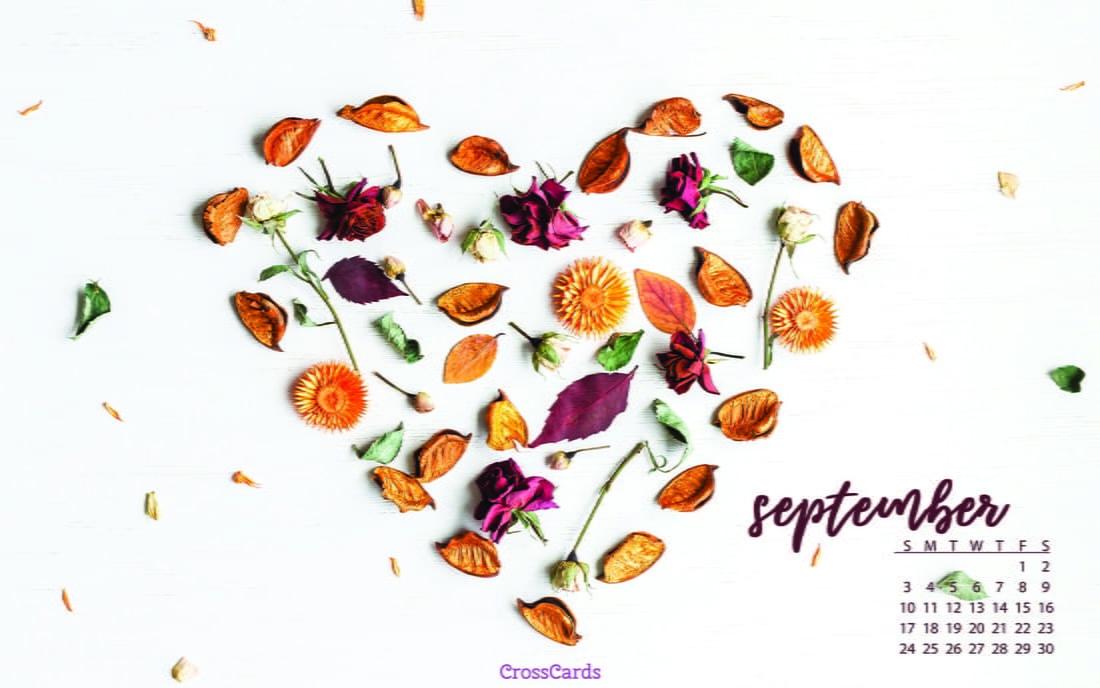 September 2017 - Fall Heart mobile phone wallpaper