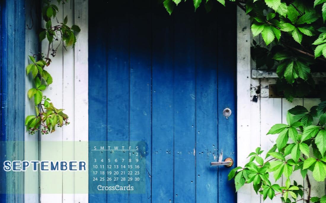 September 2017 - Blue Door mobile phone wallpaper