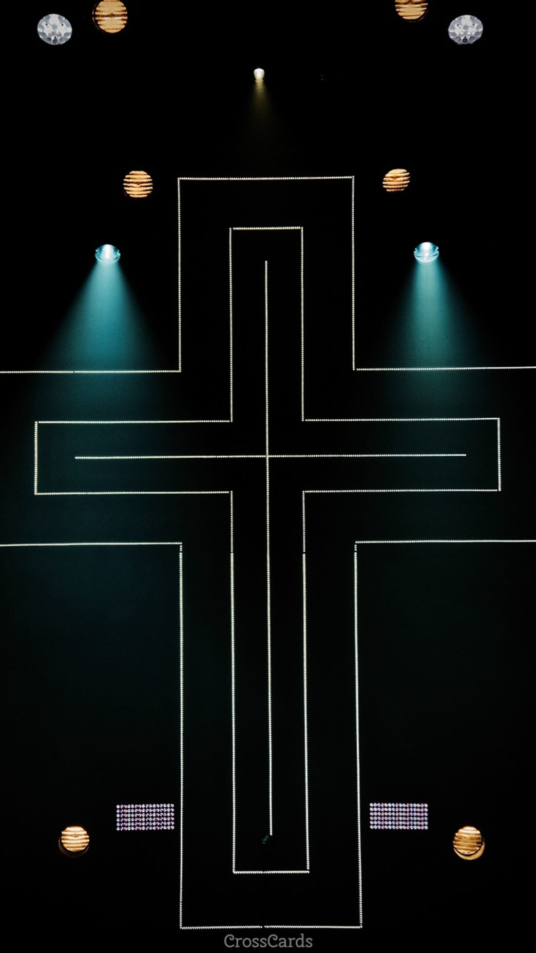 Neon Cross mobile phone wallpaper
