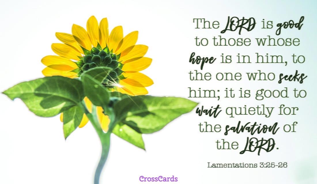 Lamentations 3:25-26 ecard, online card