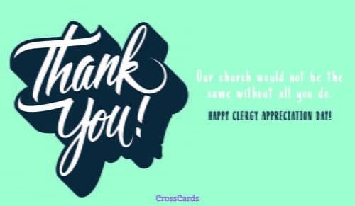 Happy Clergy Appreciation Day! ecard, online card