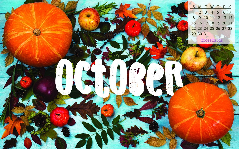 October 2017 - Fall Foliage Desktop Calendar- Free October ...