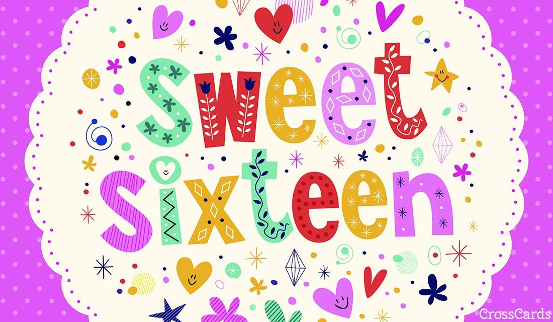 Sweet Sixteen Ecard Online Card