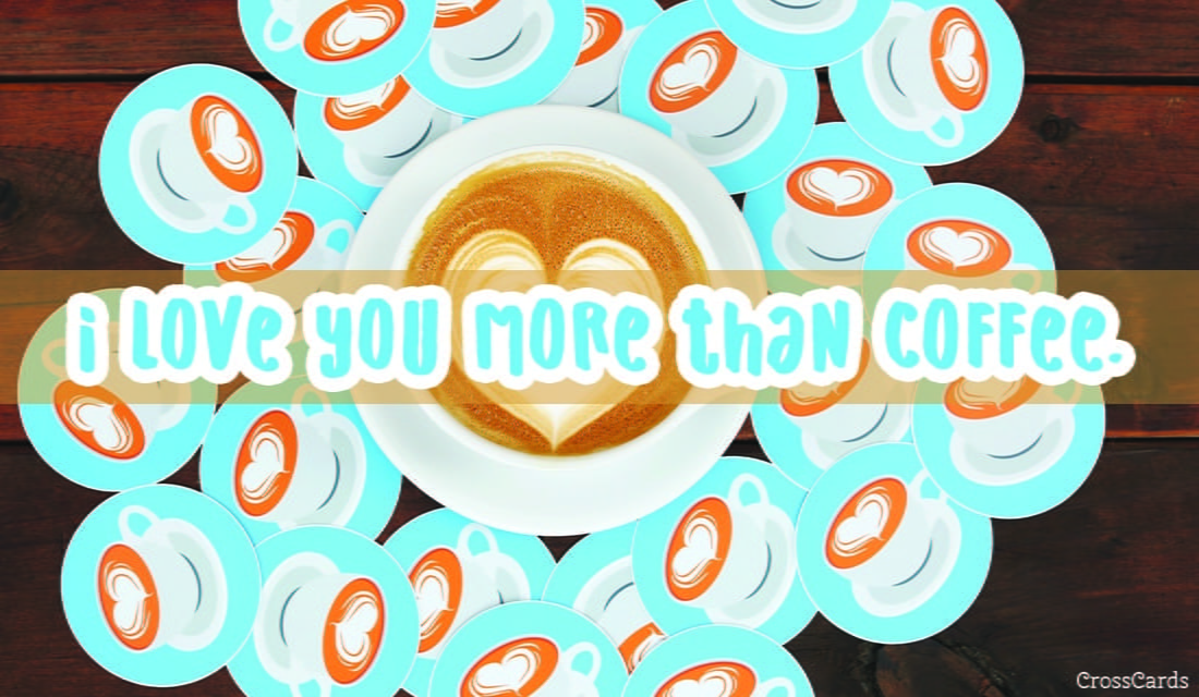 More than Coffee ecard, online card