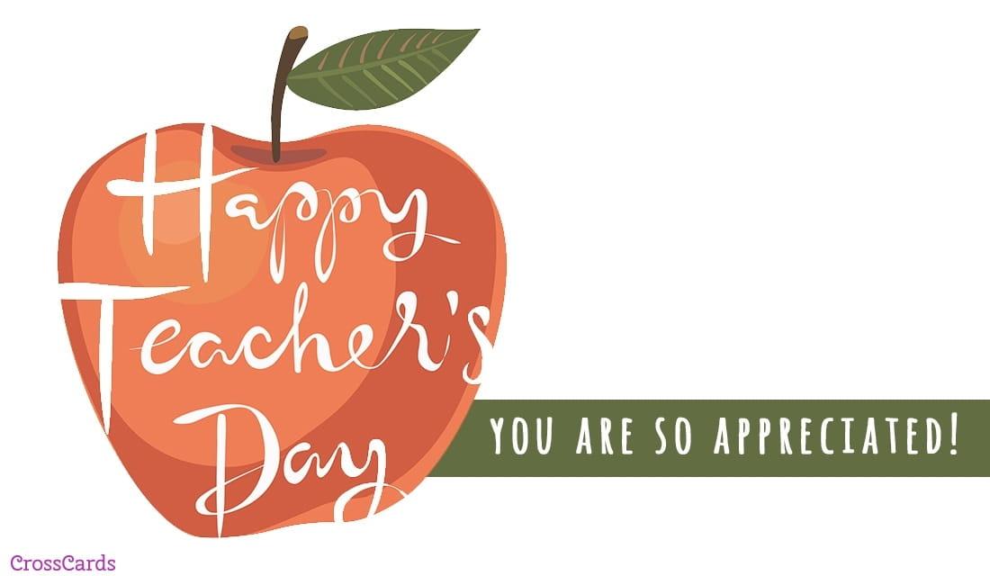 Happy World Teachers Day! (10/5) ecard, online card