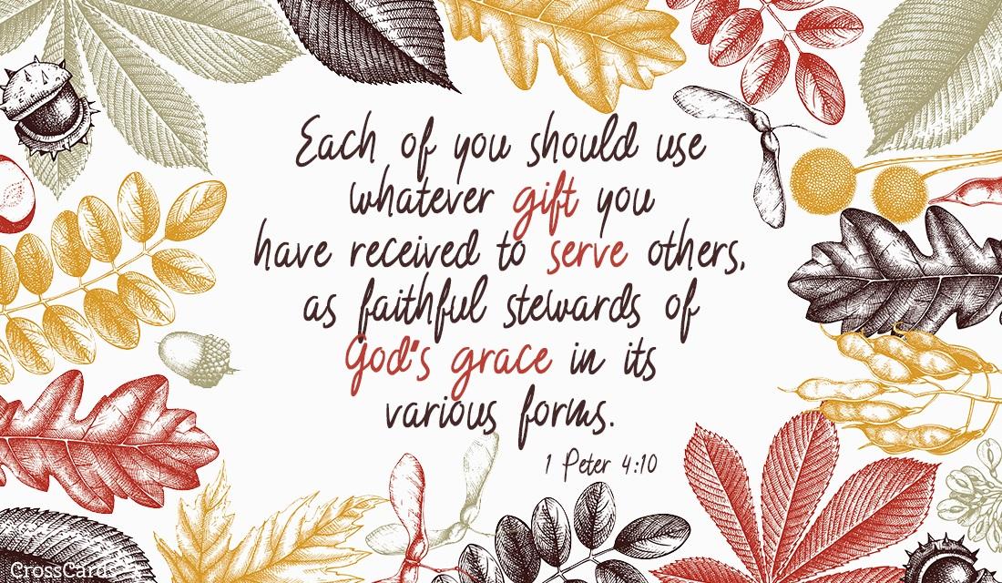 1 Peter 4:10 ecard, online card