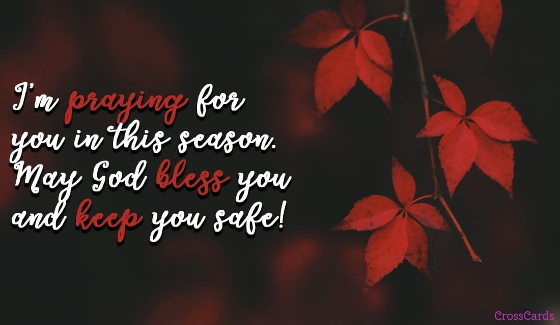 Praying in This Season ecard, online card