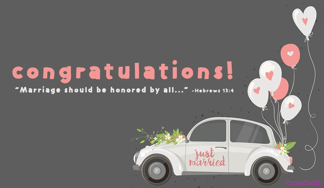 Just Married ecard, online card