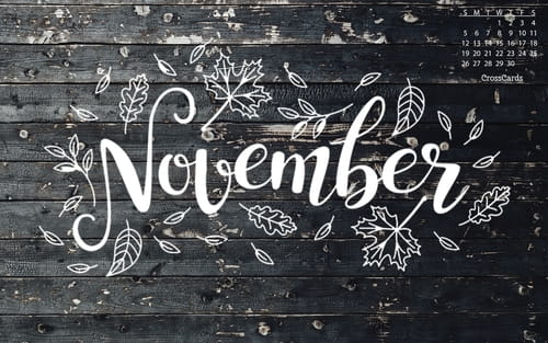 November 2017 - Fall Doodle mobile phone wallpaper