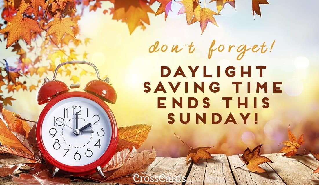 Daylight Savings Ends ecard, online card
