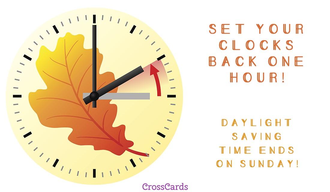 Set Your Clocks Back ecard, online card