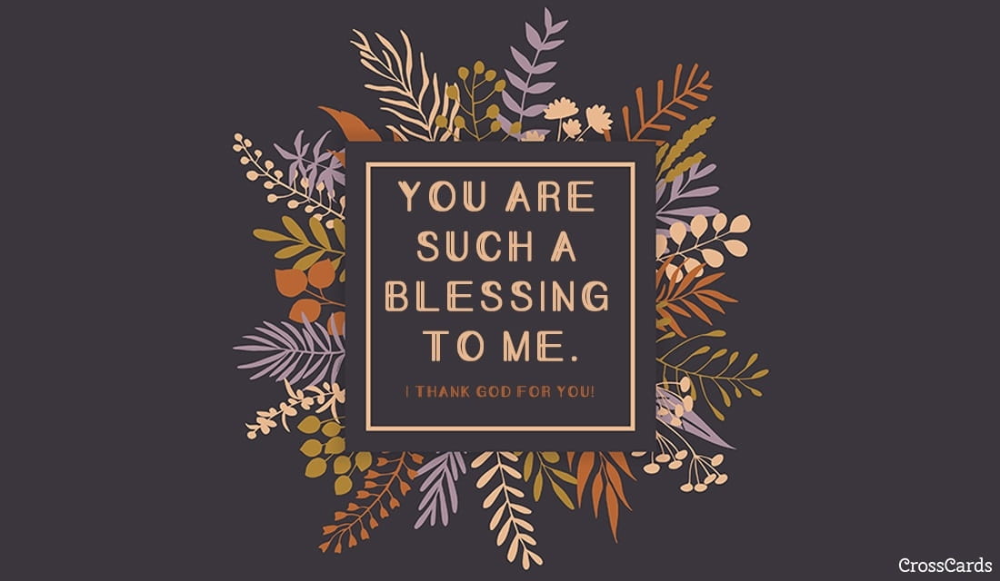 You Are a Blessing ecard, online card