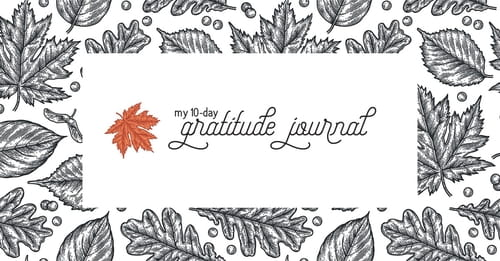 My 10-Day Gratitude Journal