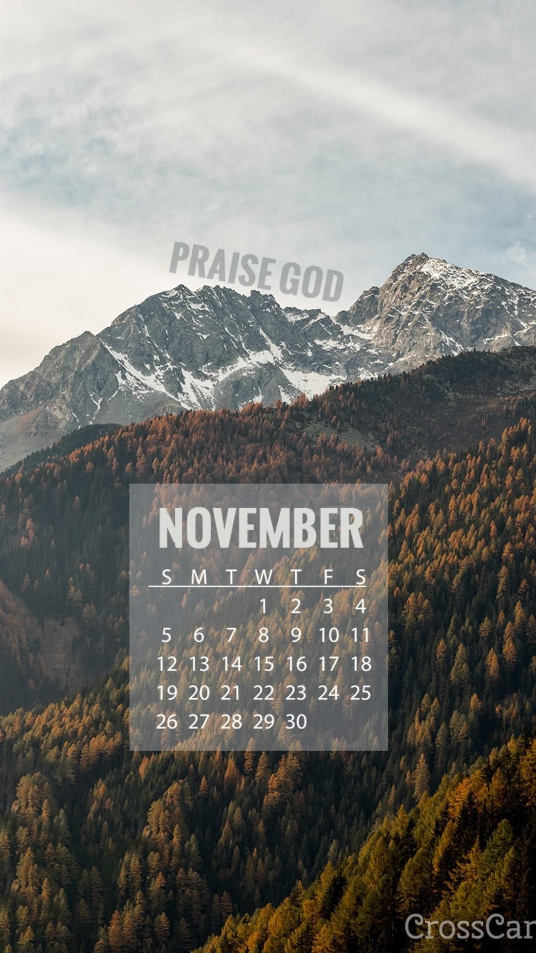November 2017 - Praise God mobile phone wallpaper