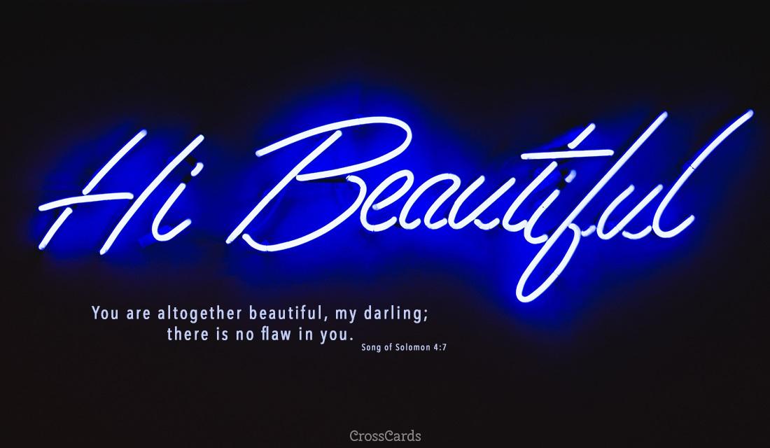 Hi Beautiful ecard, online card