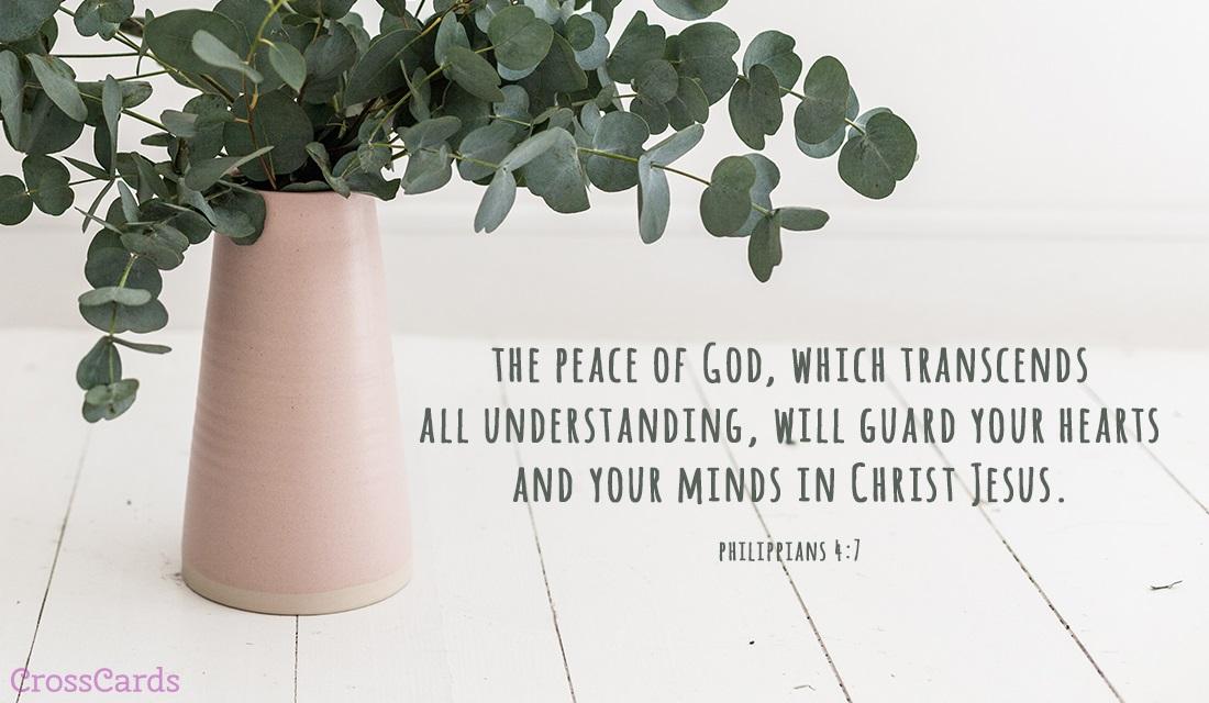 Philippians 4:7 ecard, online card