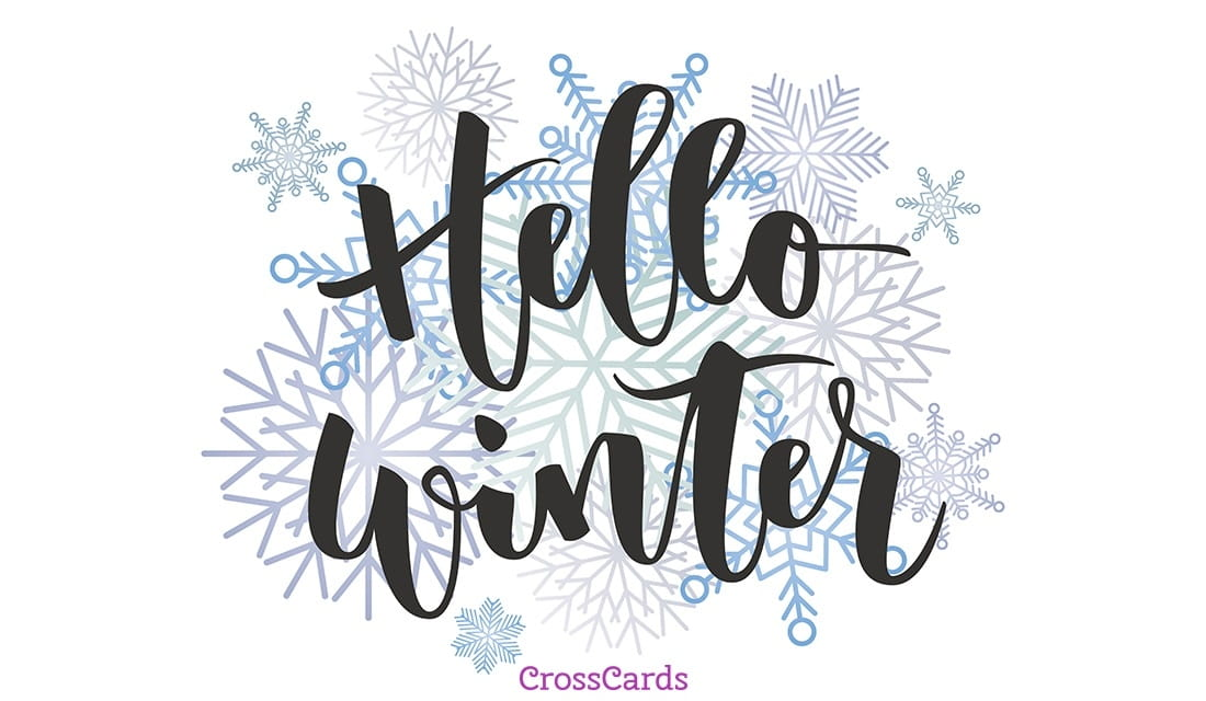 Hello Winter ecard, online card
